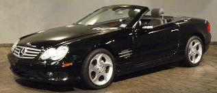 2005 Mercedes-Benz SL Class 500SL convertible with the top down