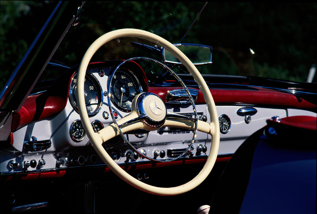 Restored Classic Mercedes Benz Interior