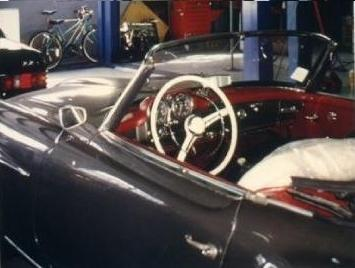 Classic Mercedes-Benz Convertable in repair shop