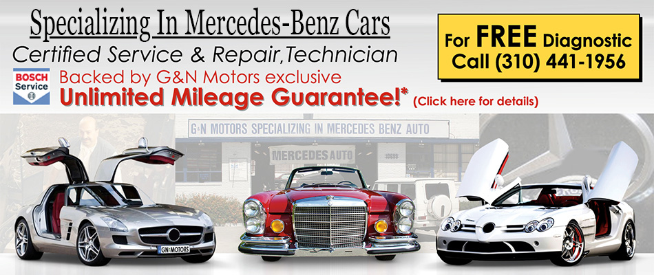 Mercedes Service and Repair Auto Shop - Free Dianosis and Unlimited Mileage Guarantee
